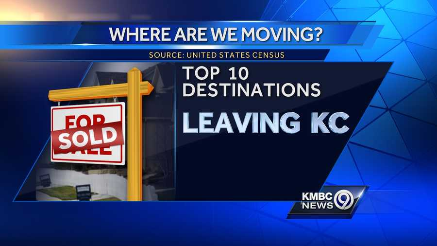 If someone decides to leave the Kansas City area, where are they moving to? Click through our slideshow to see the top 10 most-popular places to move when leaving Kansas City. (Data compiled from the United States Census Flows Mapper tool)