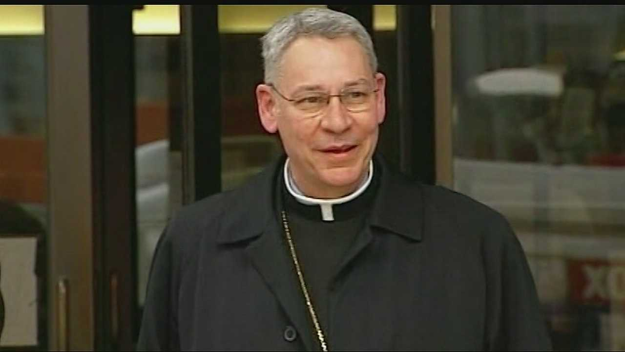 A group of protesters gathered Monday to make a new call for Kansas City Bishop Robert Finn to resign or for the church to discipline him for his role in the local sex abuse scandal.