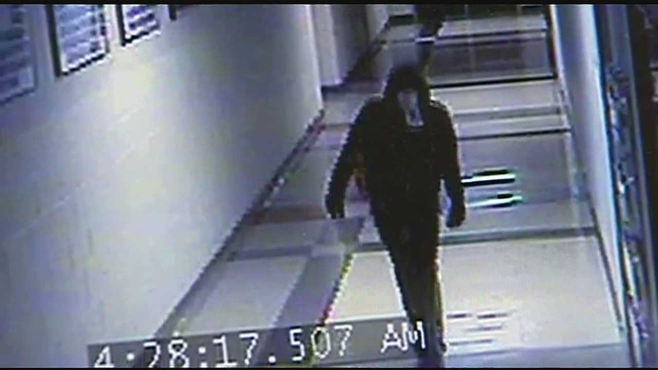 Platte City police said they hope they can get clues from a school security camera video to help them learn who broke into the school and went on a vandalism rampage Monday morning.