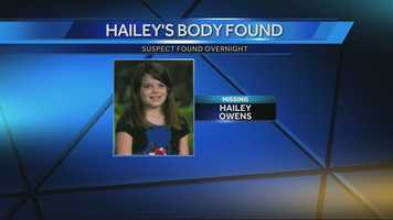 Early wednesday morning, Hailey Owens' family tells KMBC's Brenda Washington that her body has been located.