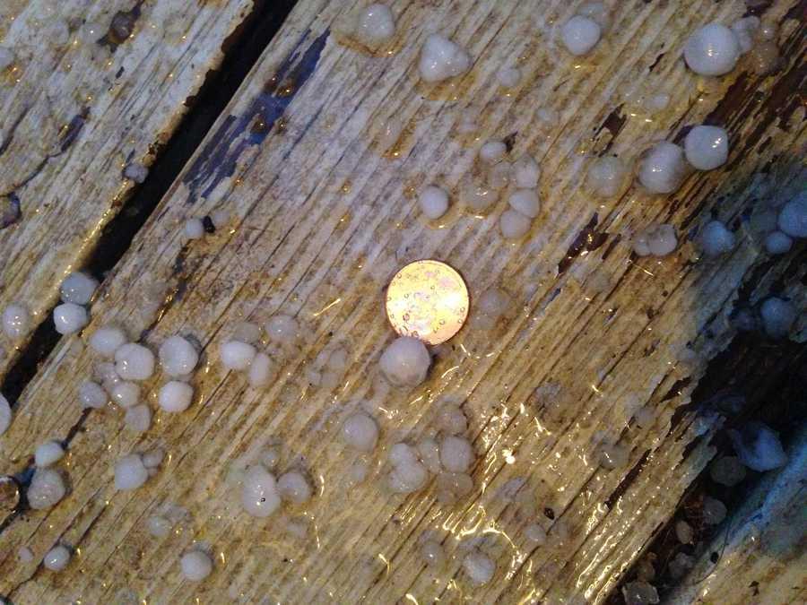 Pea sized hail in Harrisonville