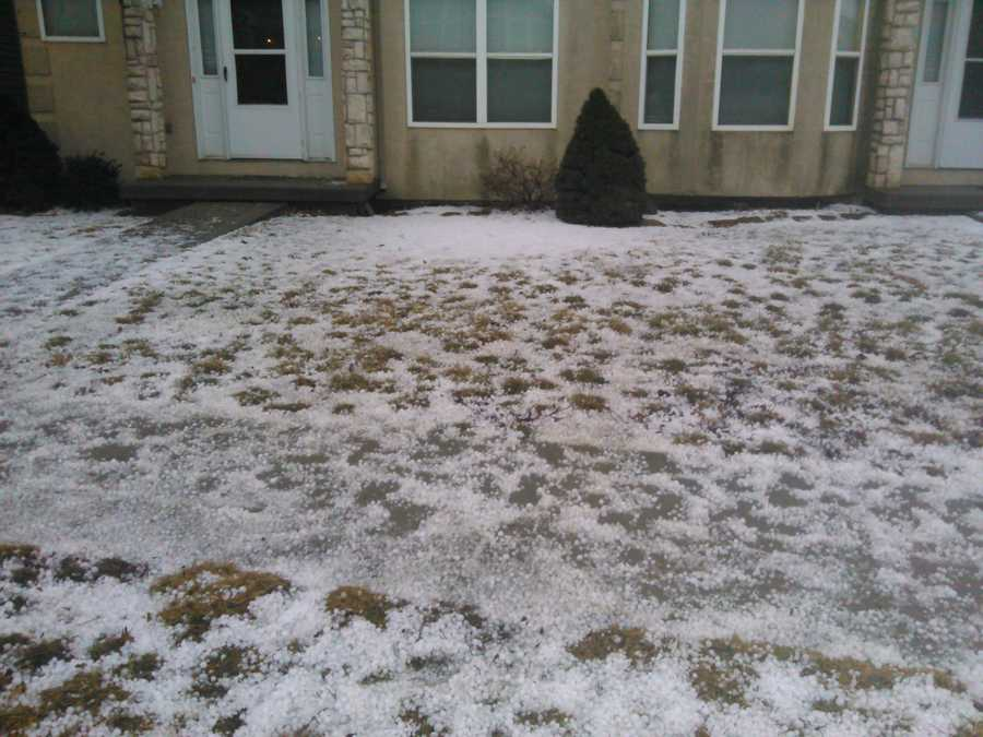Hail storm in KC!