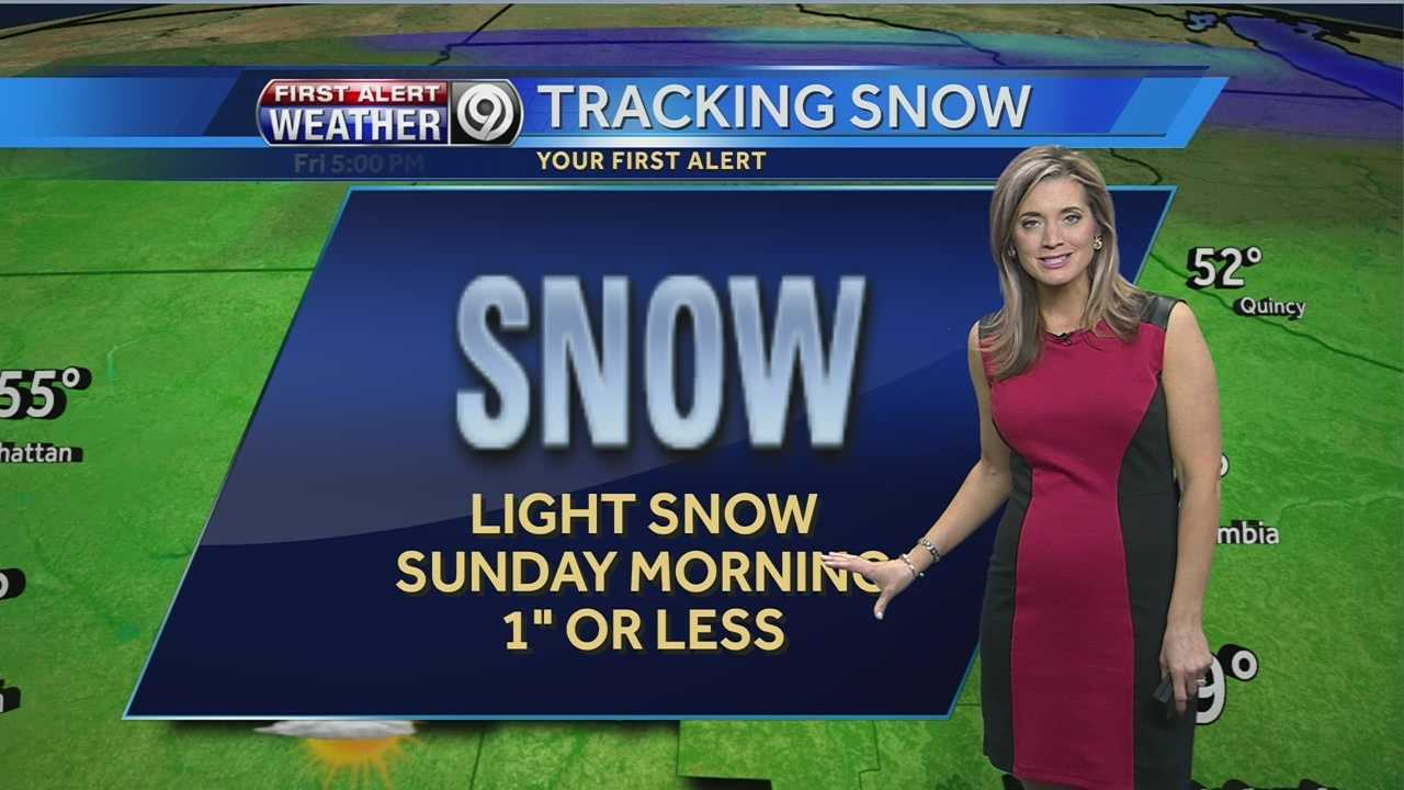 Sunday snow graphic
