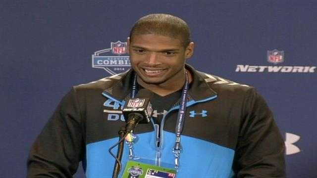 Michael Sam at NFL Combine