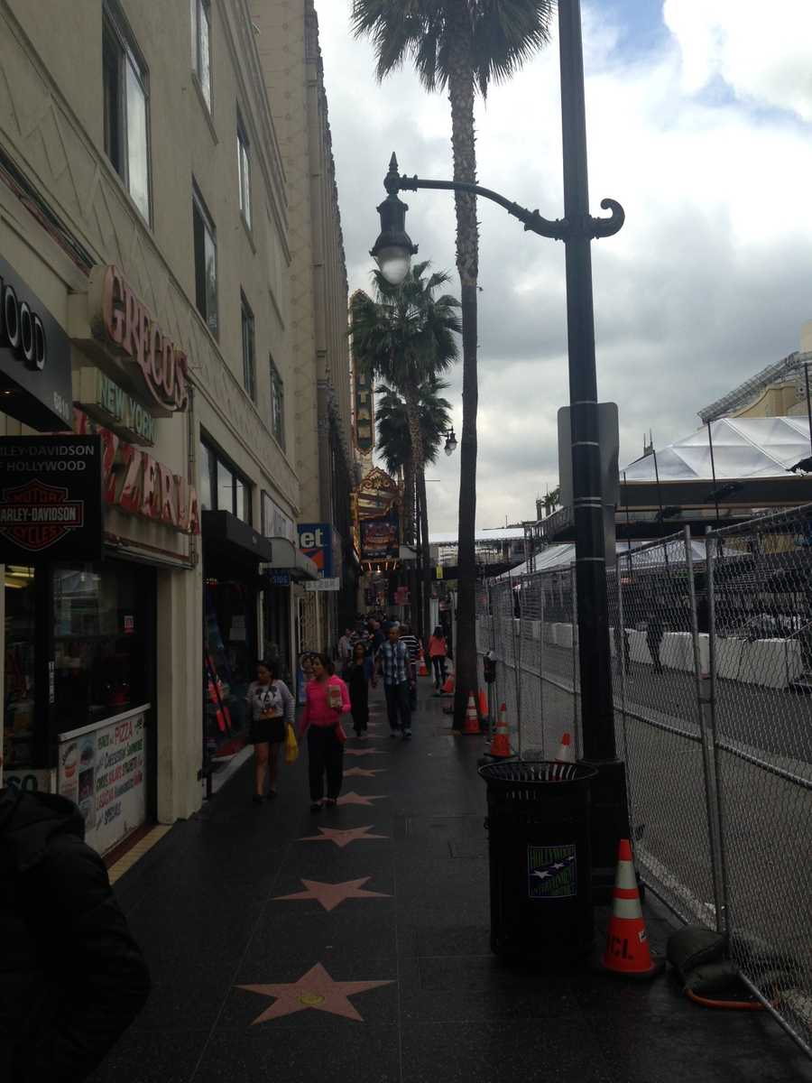 Images from Hollywood, California, where crews are setting up for Sunday night's Oscars.  You can watch the Academy Awards on your local ABC station.