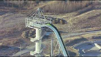 The water park said the slide is taller than Niagara Falls.