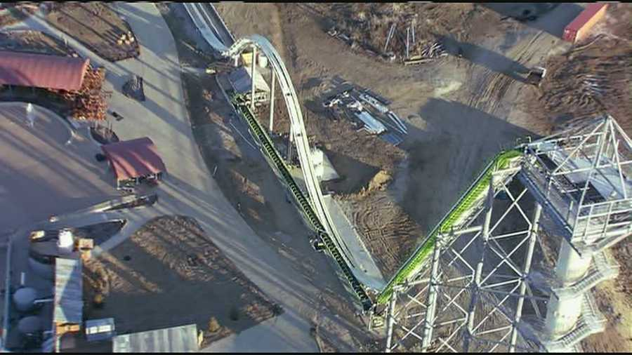 Enjoy these other pictures of the world's largest water slide, currently under construction in Kansas City, Kan.