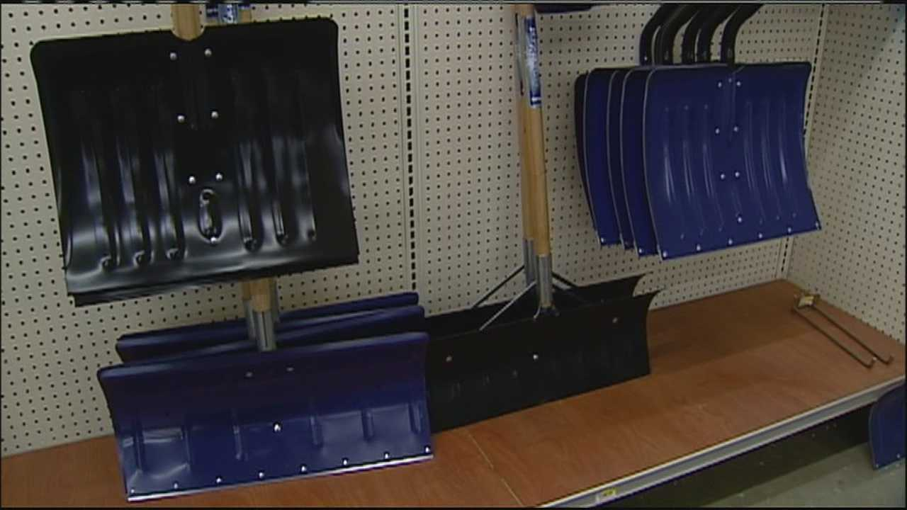 Hardware stores which had already stocked the shelves for spring had to dig out the shovels and ice melt to prepare for a potential winter storm this weekend.
