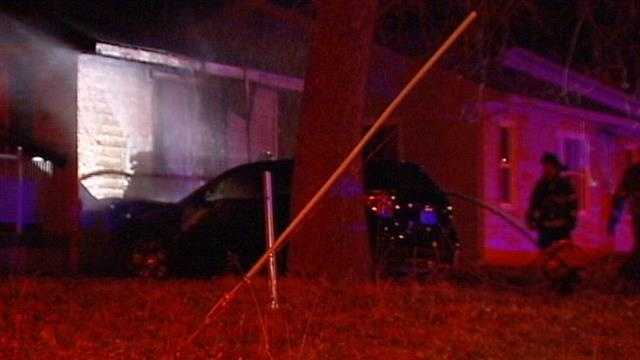 Car crashes into home, Northeast Antioch Road