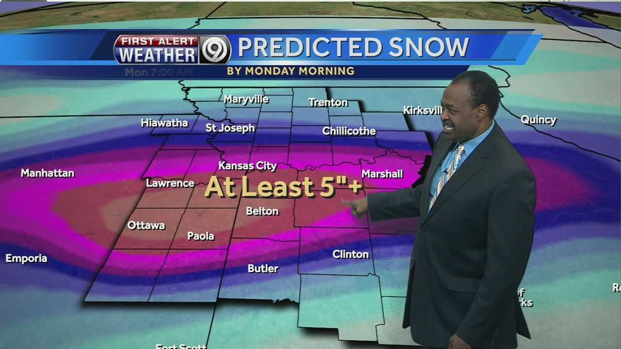 KMBC's Bryan Busby said we could see between 5 to 8 inches of snow in the Kansas City metro once this storm moves through. Watch his forecast now.