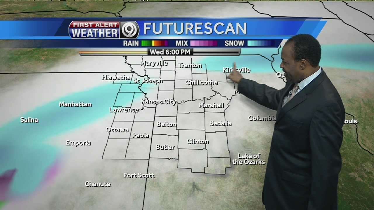 KMBC's Bryan Busby tells us how much snow we might get tomorrow, and how warm it'll get by next week.