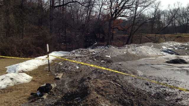 Image Warrensburg cave where infant's body was found