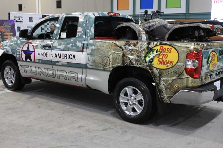 Fishing for a new ride?  Bass Pro Shop teams up with the new Tundra.