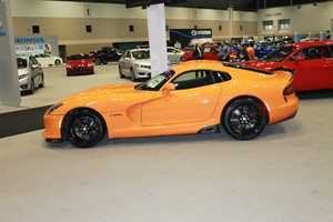 A few of our viewers correctly tweeted us their guess on this make/model.https://twitter.com/kmbc/status/441321019148480512It's the 2014 Dodge Viper.