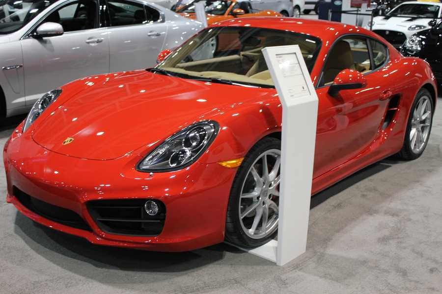 Porsche Cayman S.  KC Auto Show at Bartle Hall this weekend.  Plan to spend a few hours, because the showcase is massive.  The 2014 Greater Kansas City International Auto Show is going on now until Sunday, March 9.