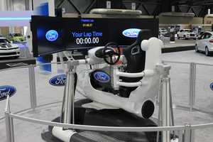 Multiple simulators of different varieties on stand-by at the 2014 Greater Kansas City International Auto Show. The showcase continues now until Sunday, March 9.