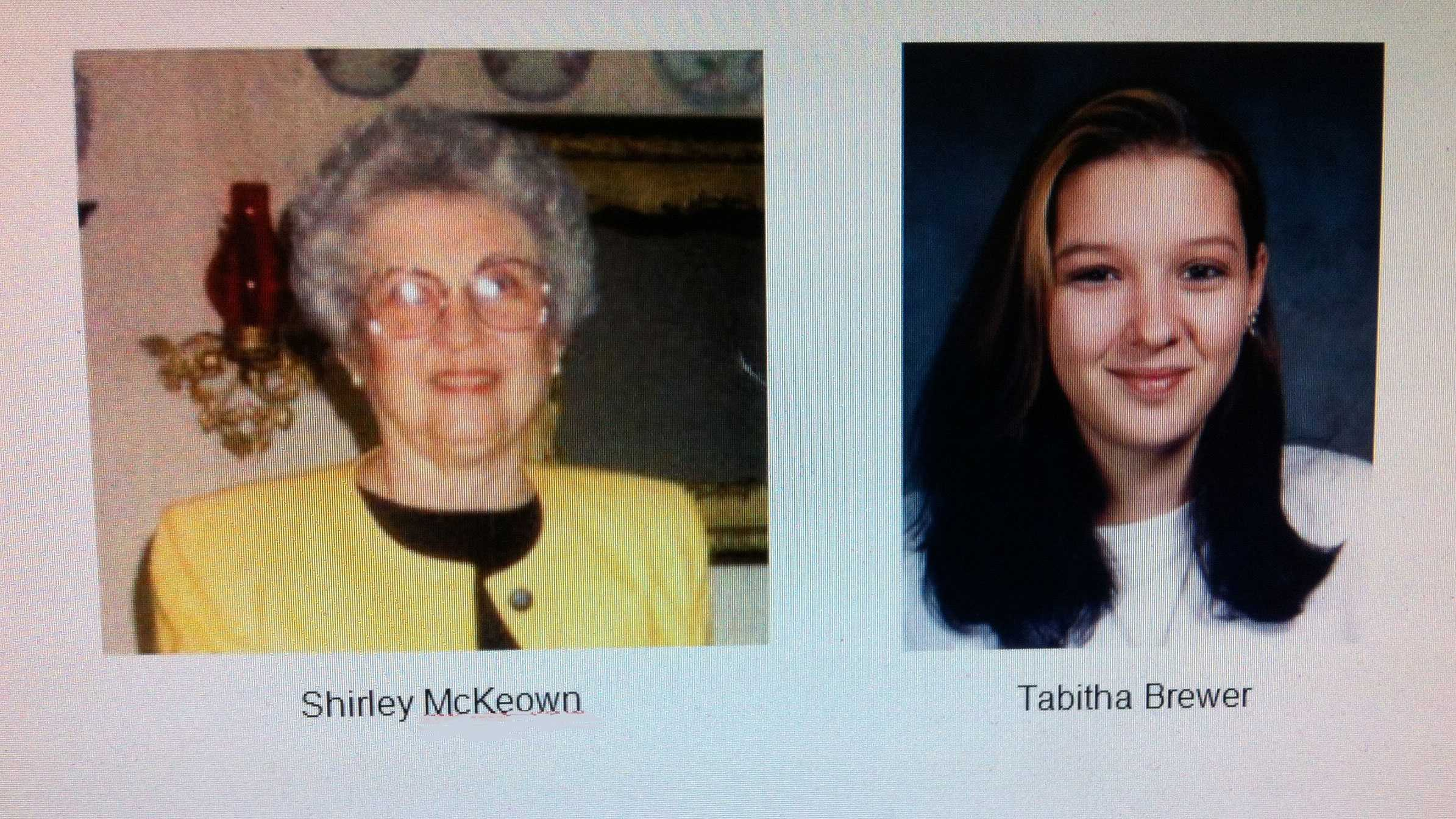 Shirley McKeown, Tabitha Brewer