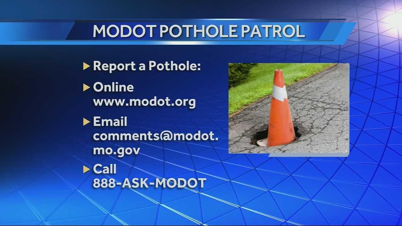 MoDOT wants help with pothole patrol