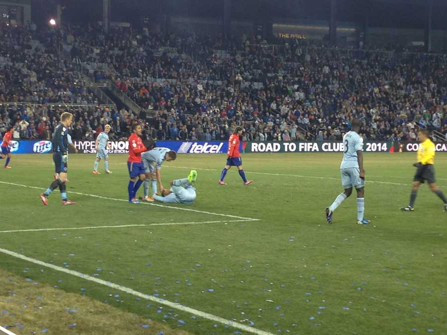 It was a physical game between Sporting KC and Cruz Azul from Mexico.