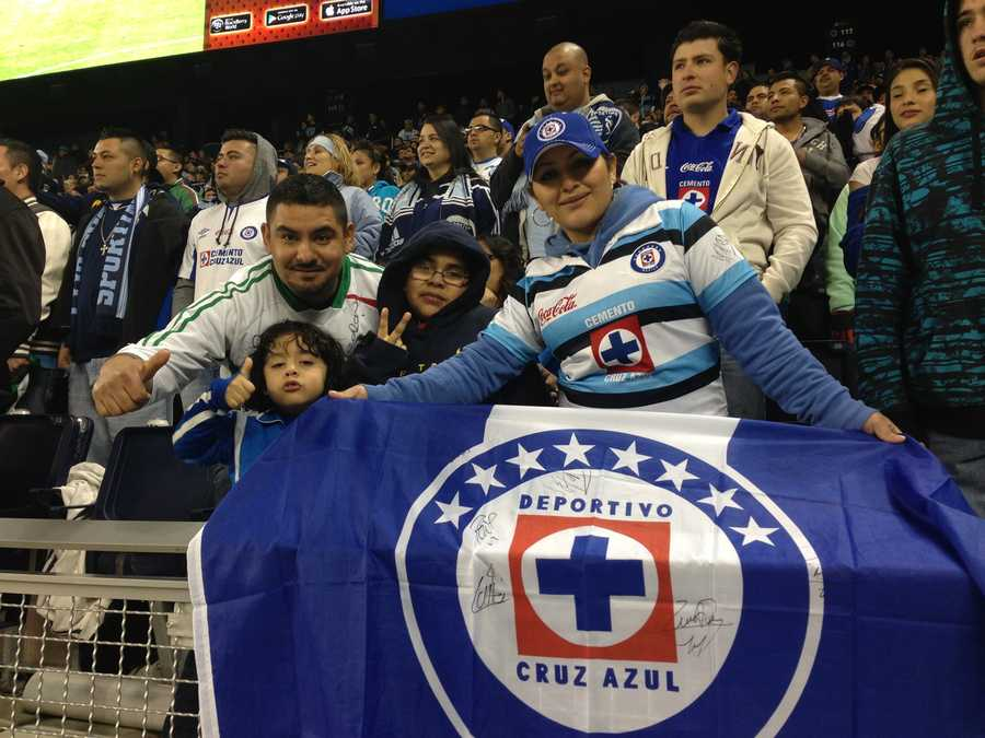 Cruz Azul fans #KMBCSeen at Sporting Park