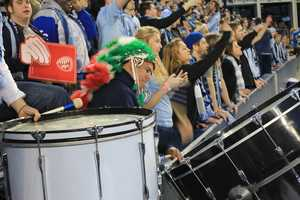 Sporting KC Fans #KMBCSeen On the Drums at Sporting Park