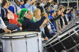 Sporting KC Fans #KMBCSeen Pounding the Drums at Sporting Park
