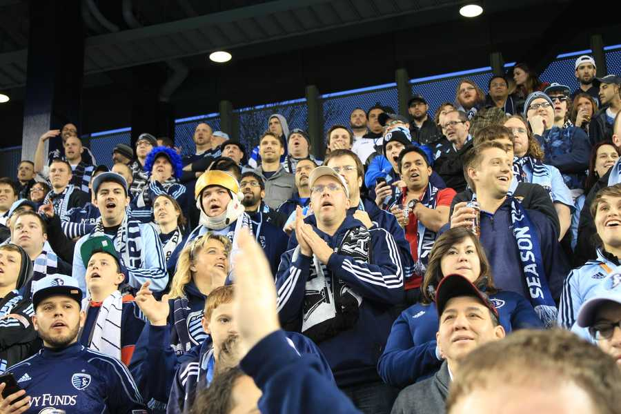Sporting KC Fans #KMBCSeen Awaiting Victory at Sporting Park