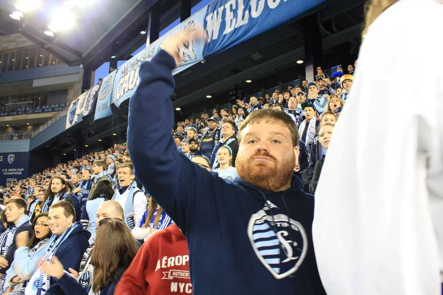 Sporting KC Uncle Fuzz #KMBCSeen again at Sporting Park