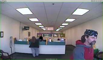 Police are asking for your help in identifying this man. He is accused of robbing a Bonner Springs loan business on Saturday, stealing more than $1,300 and threatening the clerk.