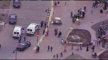 Images from NewsChopper 9 flying over the Kansas City Zoo, where police responded after shots were fired in the zoo's parking lot.