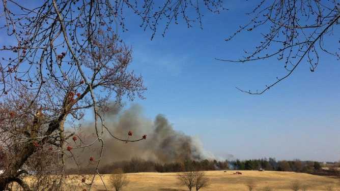 Image Leavenworth brush fire