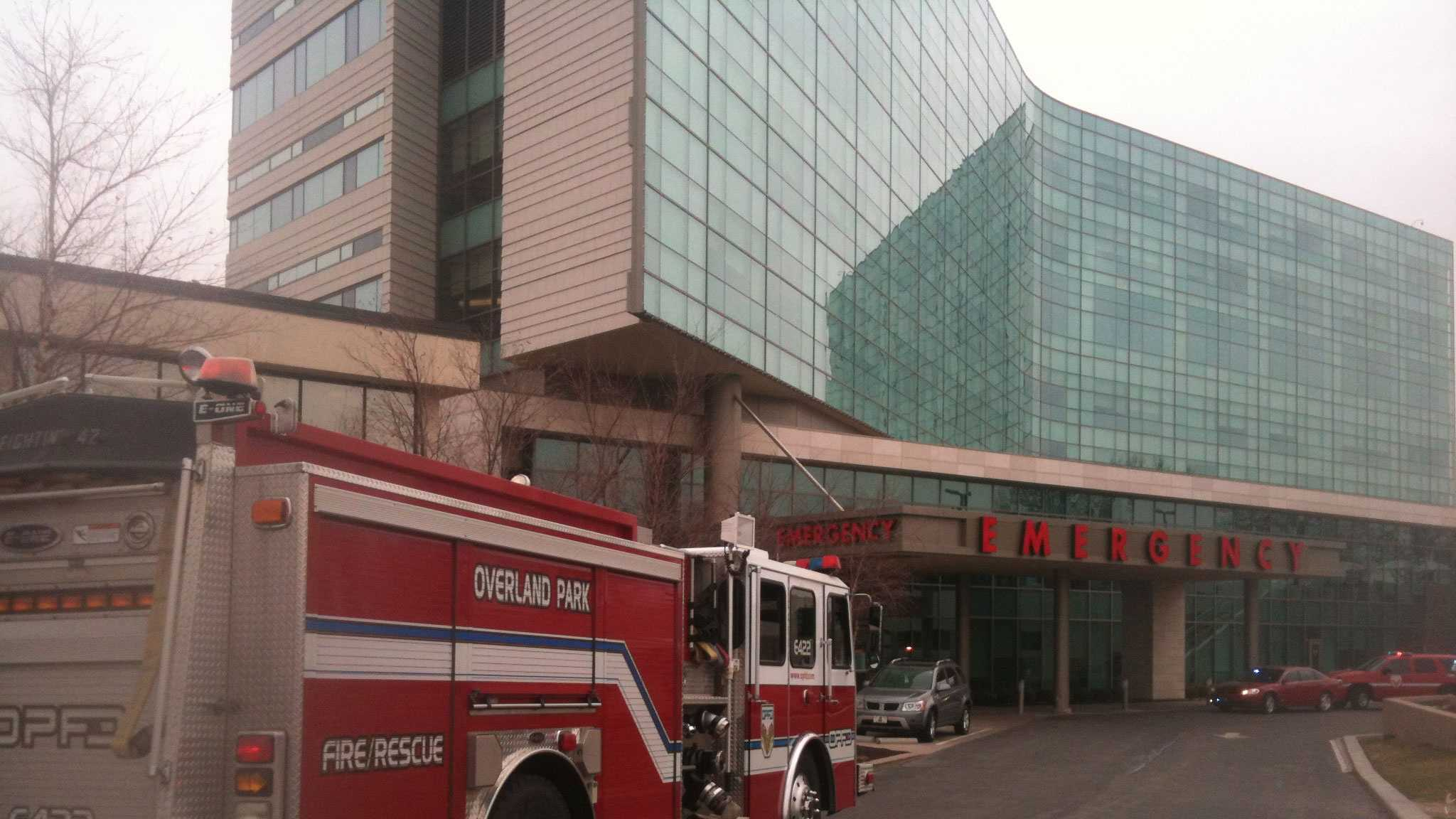Shawnee Mission Medical Center fire call