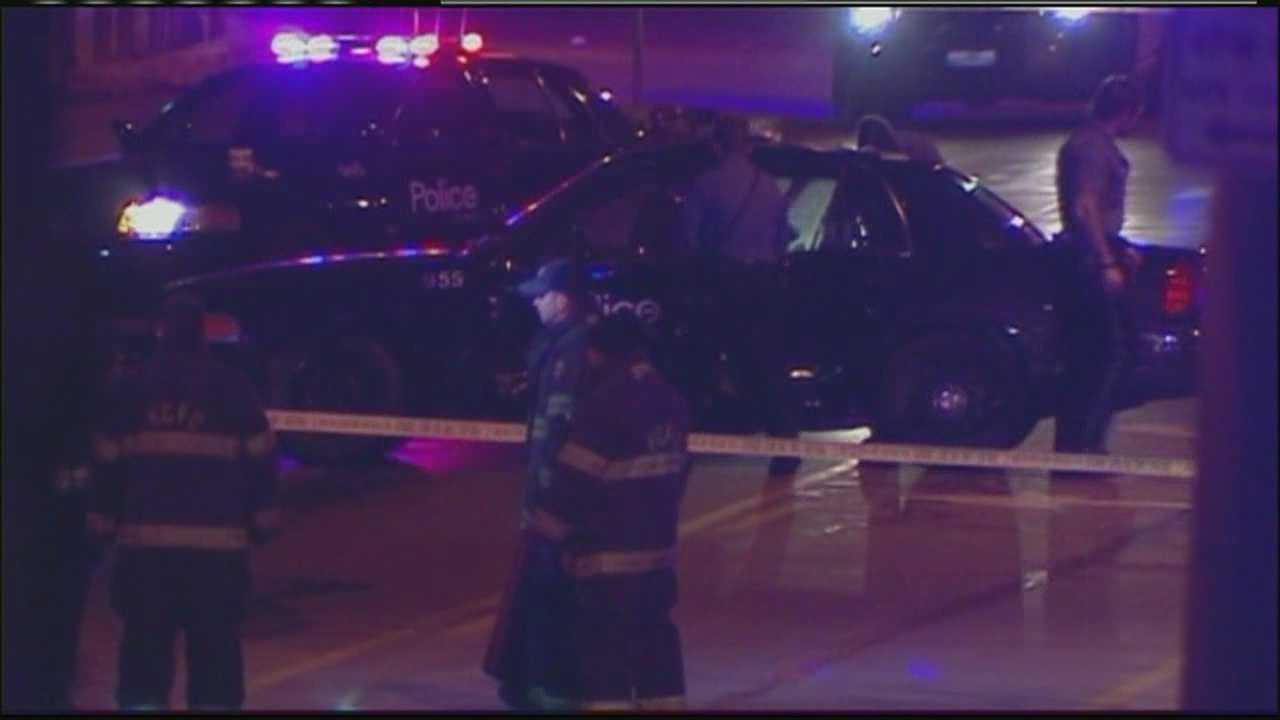 Police cruiser hit 57th, Troost