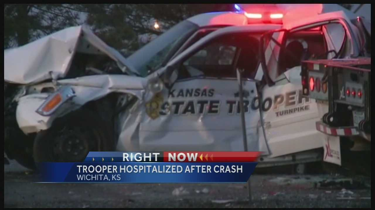 Kansas Highway Patrol trooper hurt, Wichita
