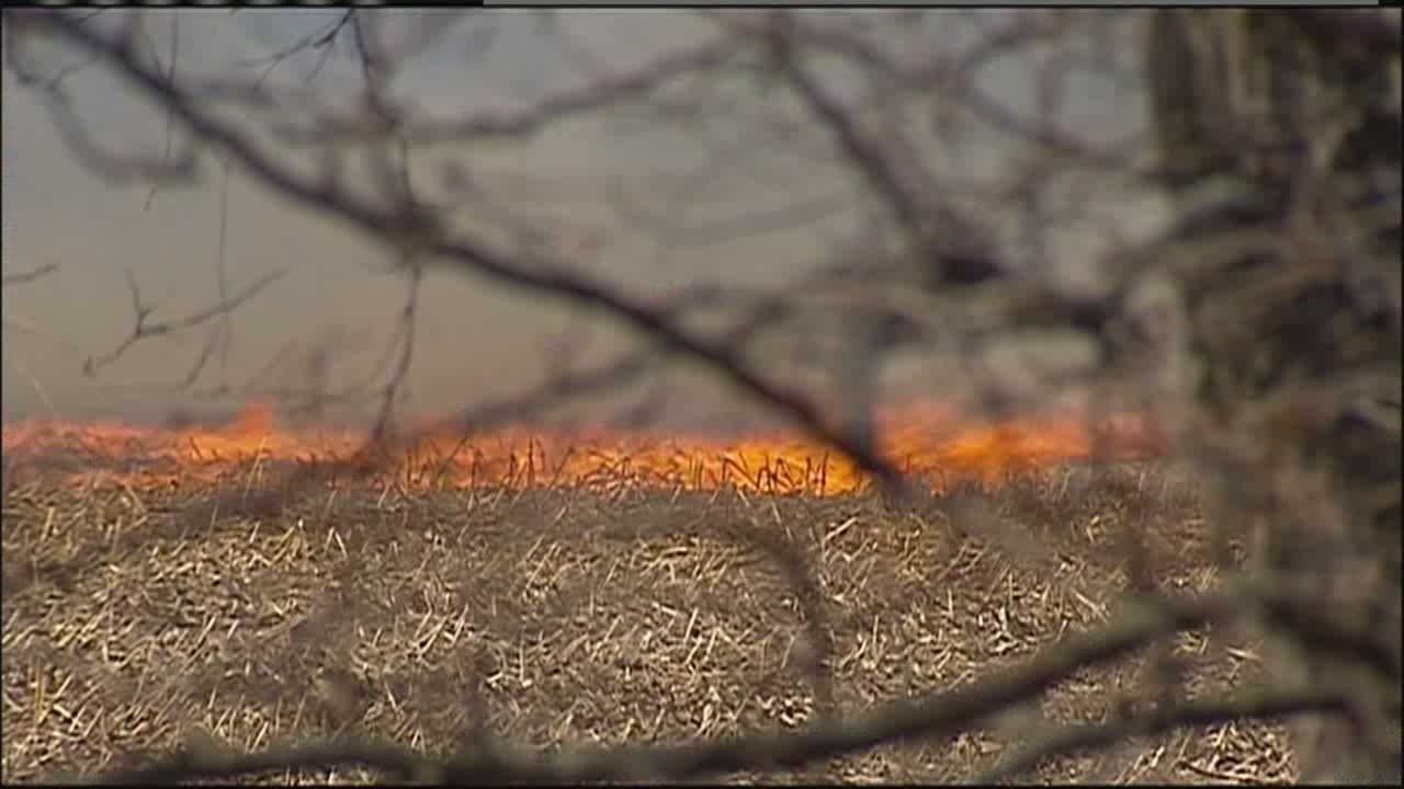 Strong winds and dry conditions created high fire danger over the weekend.  KMBC's Matt Evans reports.