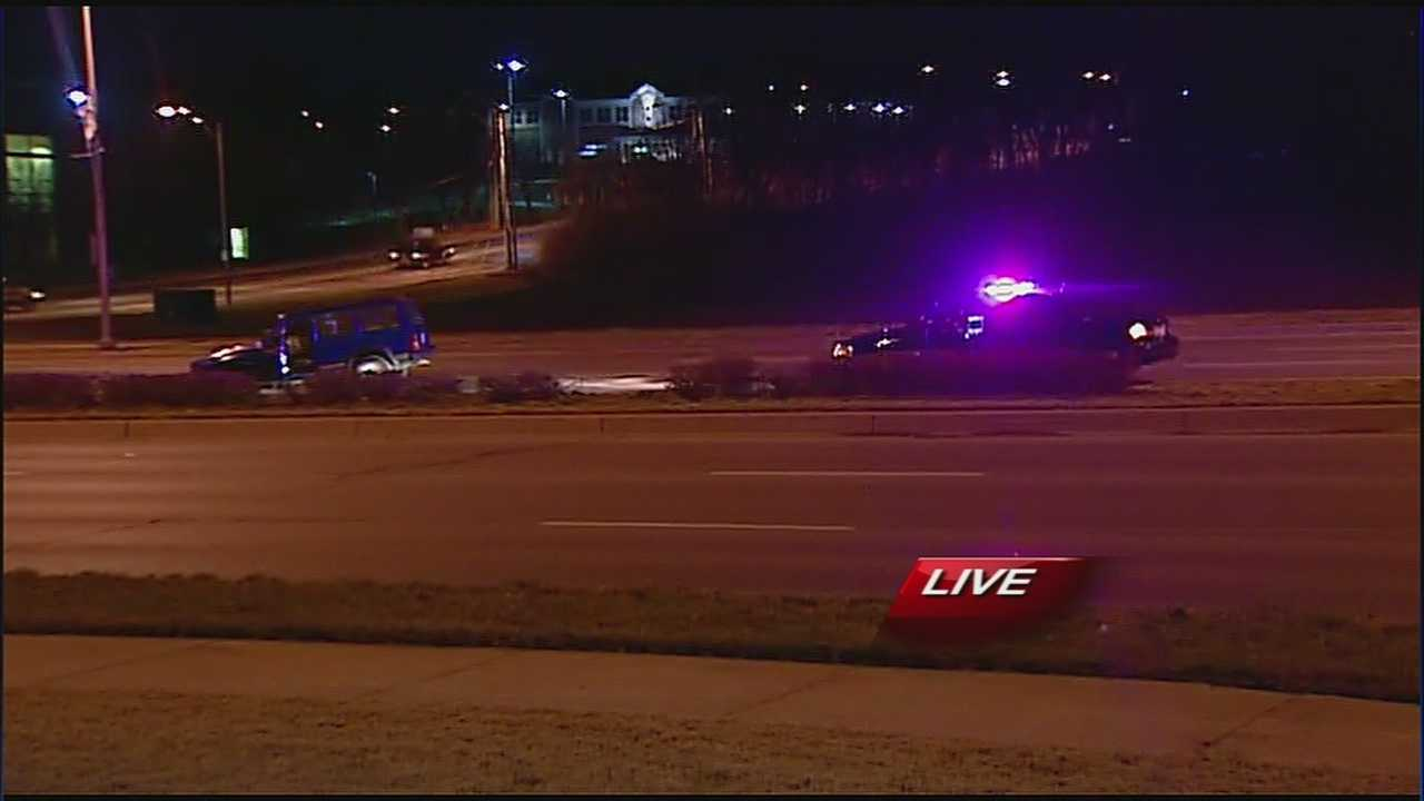 Police search for suspected drunk driver after crash