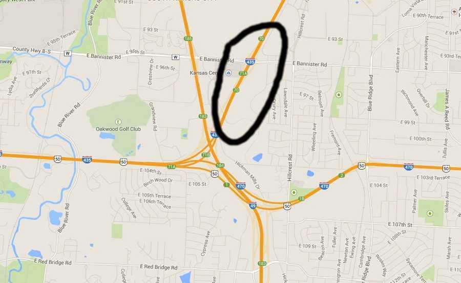 I-435 south near I-470
