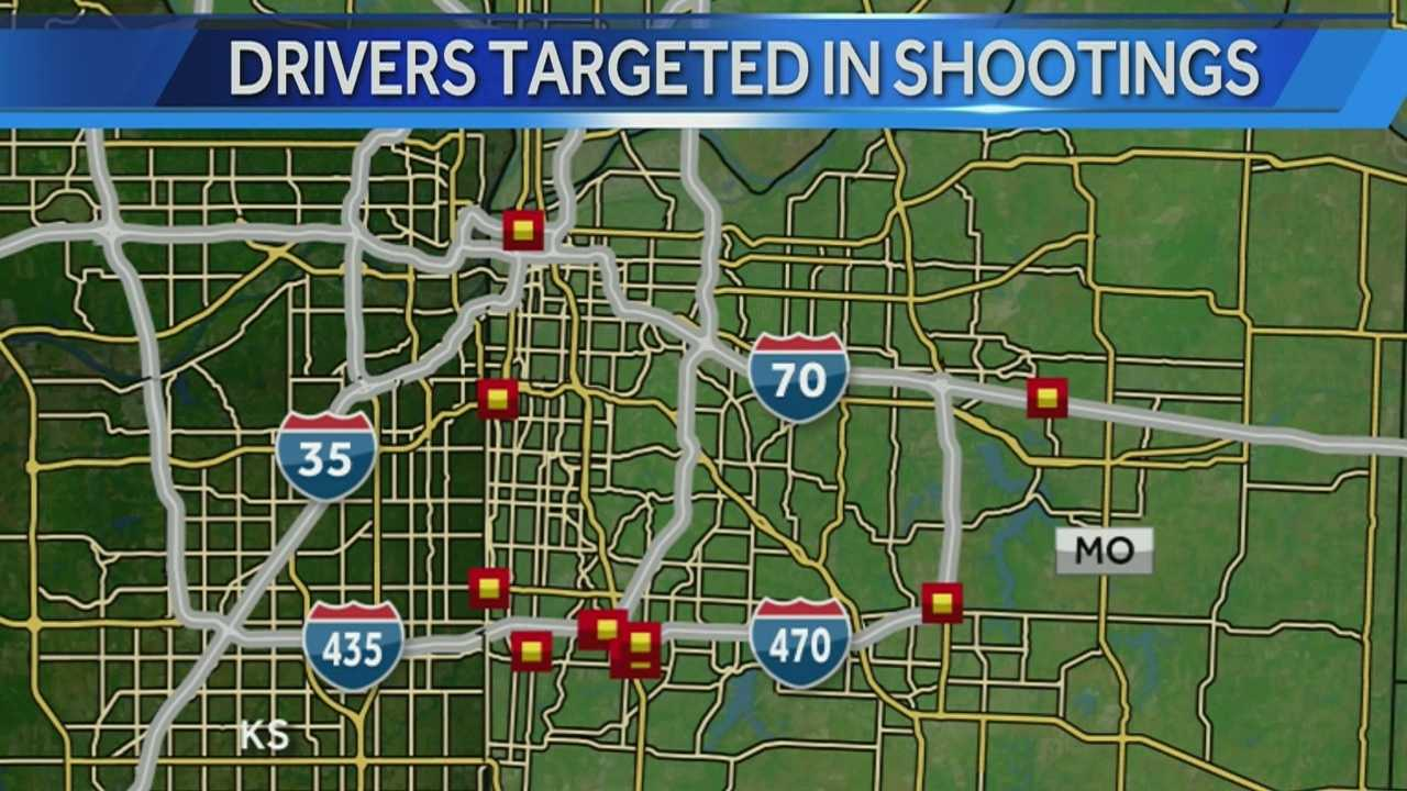 Image highway shootings overall map of locations