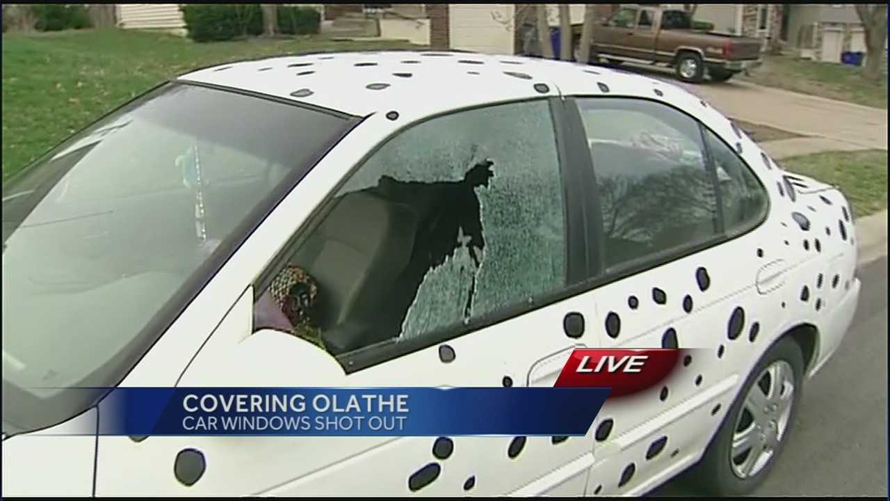 As many as 40 vehicles were damaged by vandals in an Olathe neighborhood overnight.