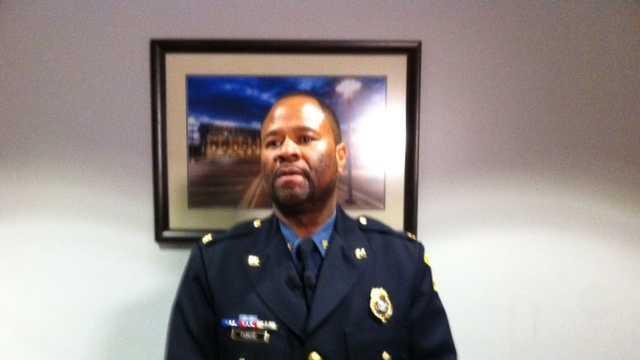 Kansas City Police Chief Darryl Forte briefing the media on Friday