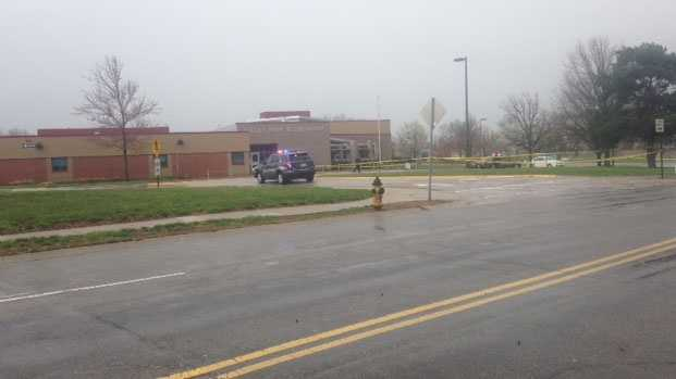 Valley Park Elementary School near 123rd and Lamar Avenue, where one person was taken into custody Sunday afternoon.