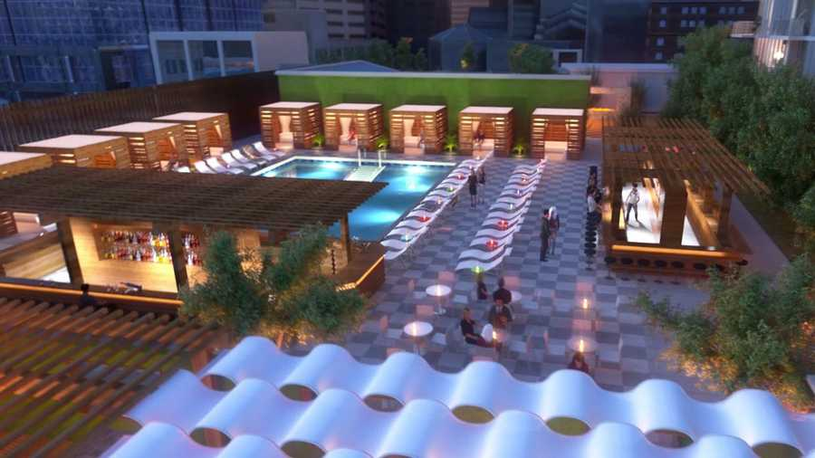 The complex will have a rooftop pool and bar.