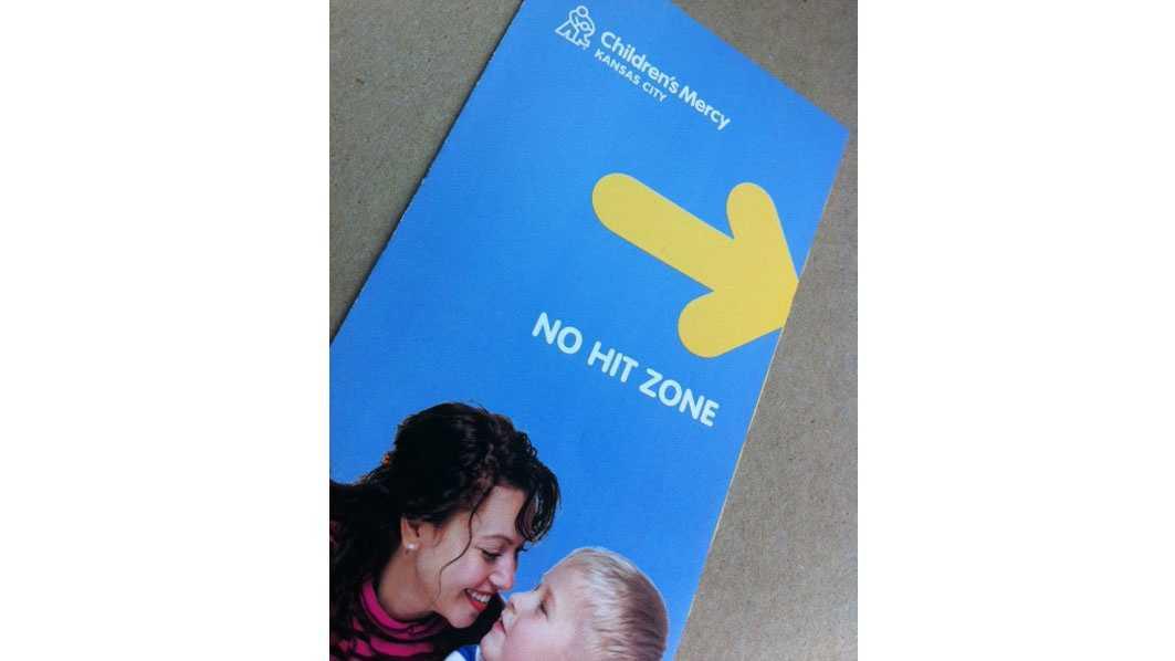 Children's Mercy Hospital no hit zone