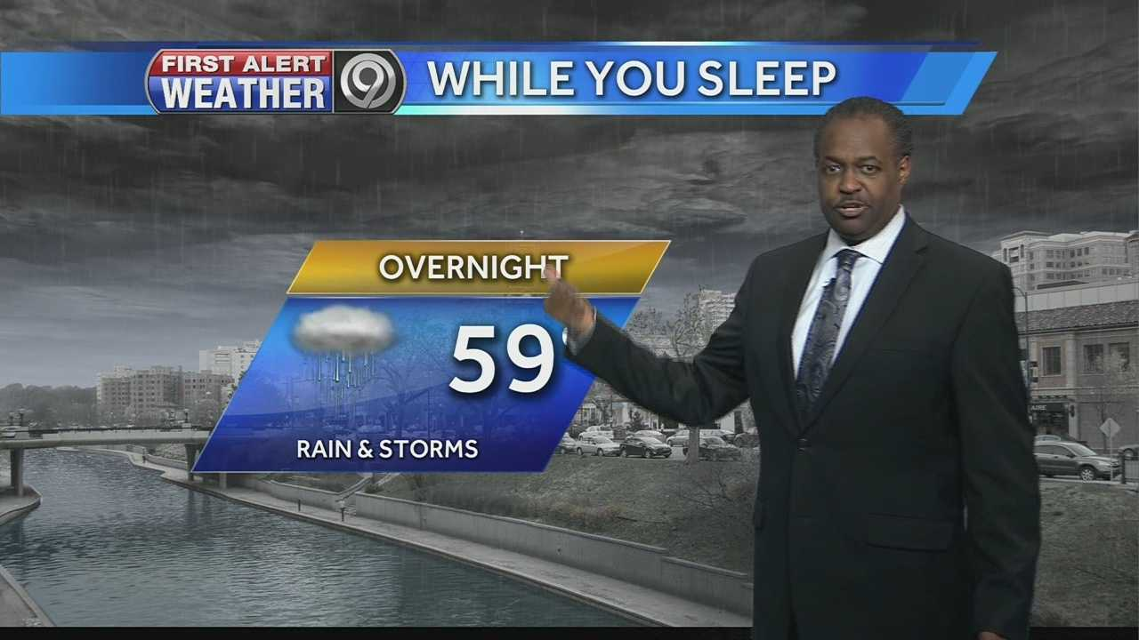 Image Weather story - Wednesday night