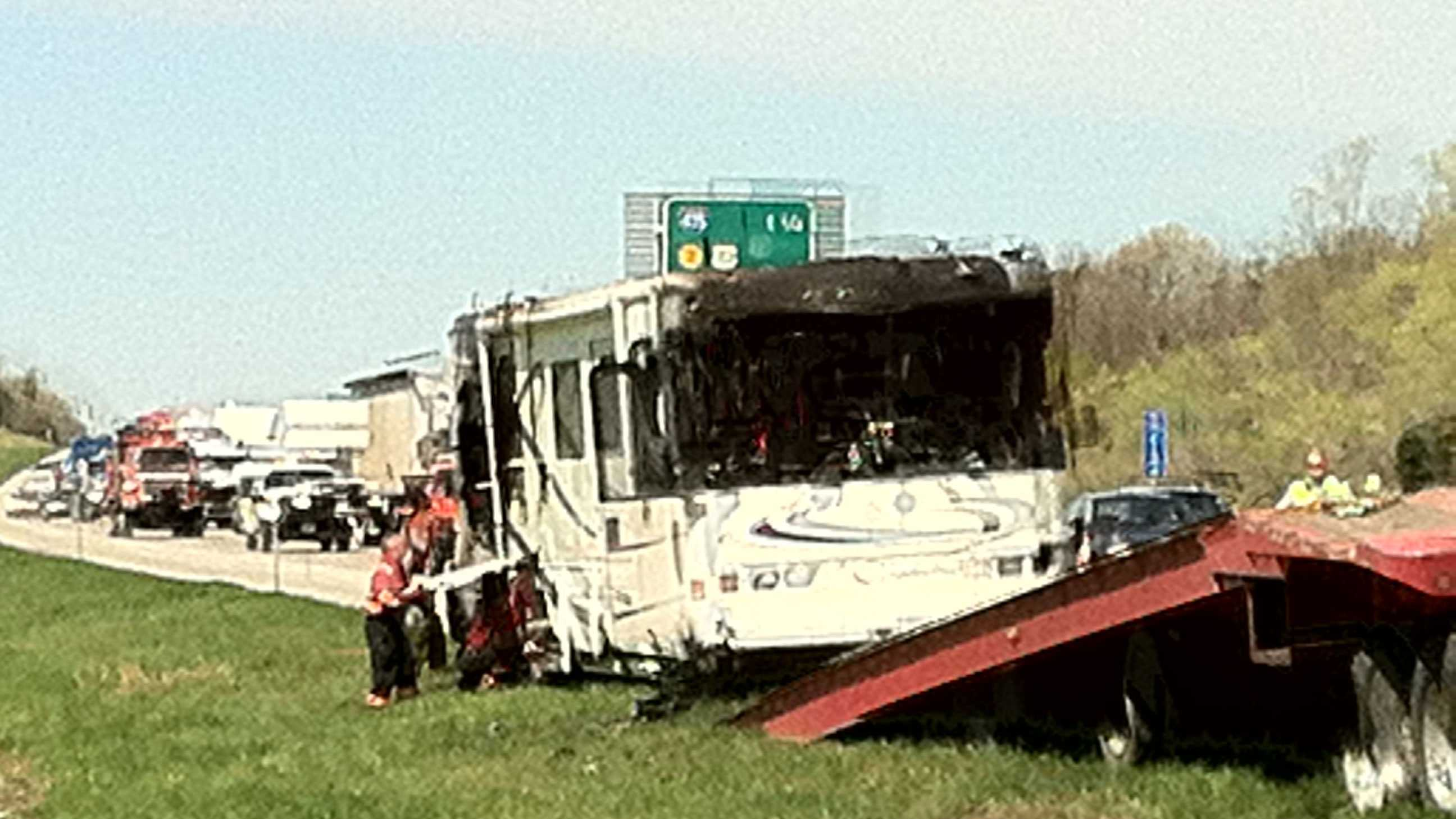 RV fire on I-70