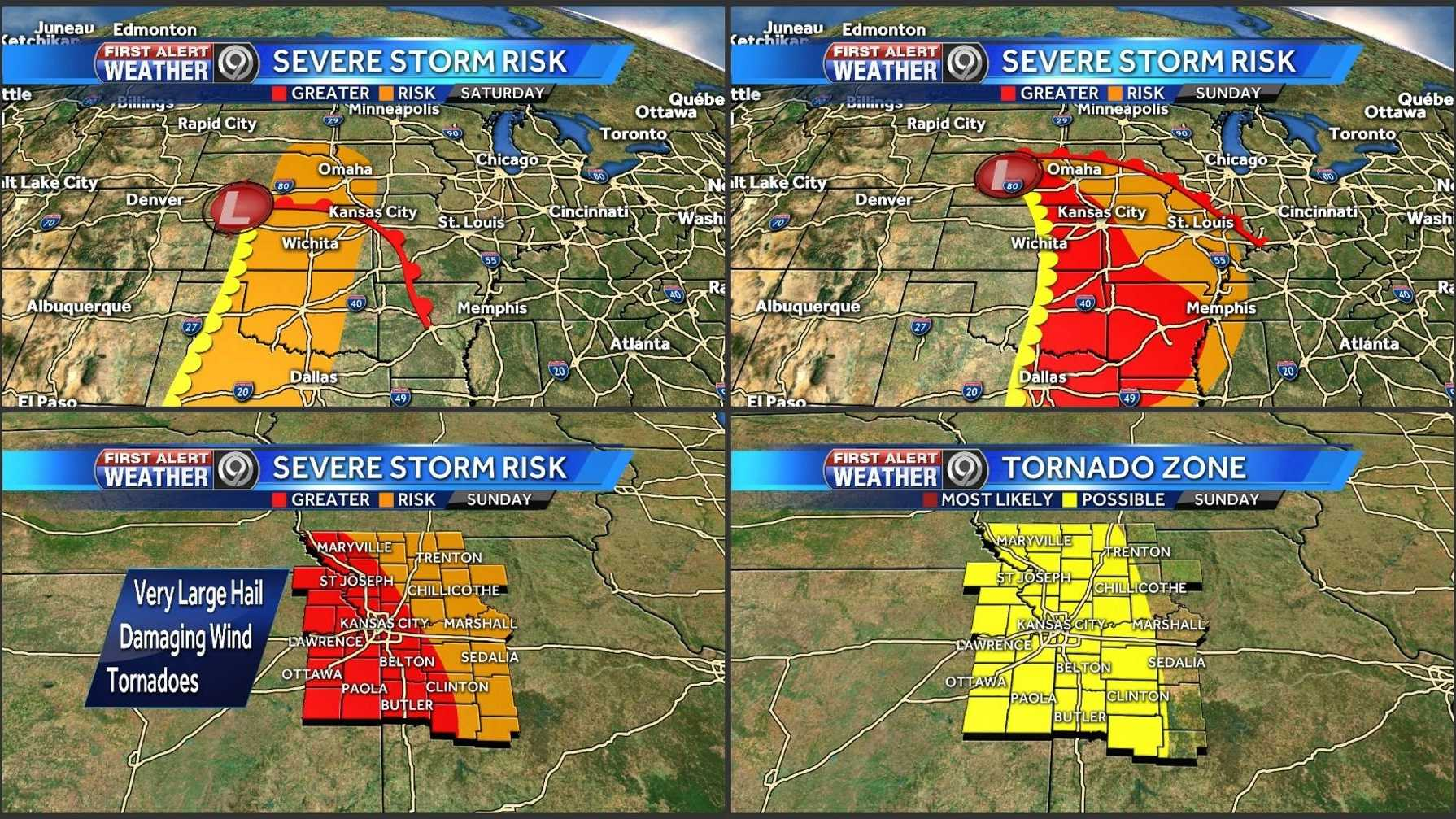 Image severe outlook for the weekend
