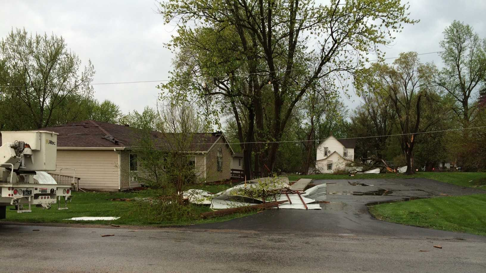 Images: Storm damage in Odessa, Mo.