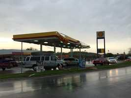 Images of storm damage from Odessa, Mo., where high winds blew through town on Sunday afternoon.