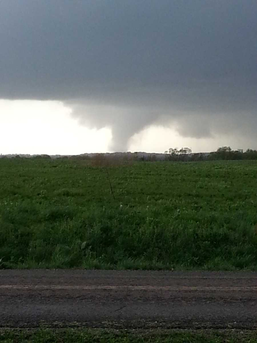 Images near Hume, Mo., from Joseph Fields, of a tornado that touched down on Sunday evening.