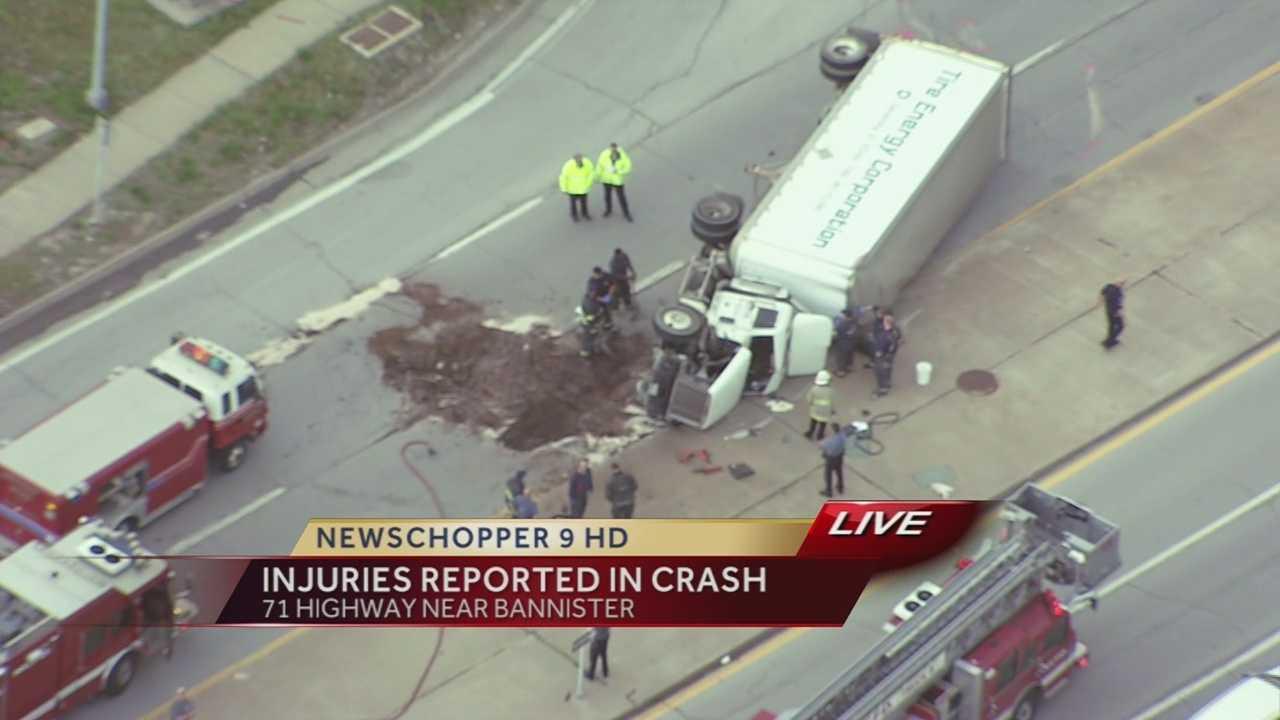 Image Bannister Road truck crash